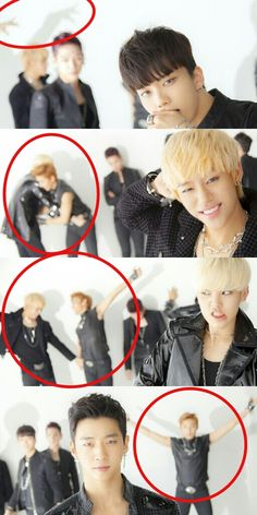 Forever trolling at the back - B.A.P (More like Jongup)  Hhahahhahah I cant with Jongup :DD