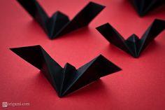 "Origami Bat  Maybe for a ""Batman"" birthday party"