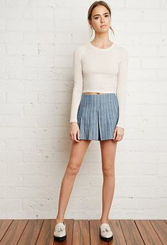 Pleated Denim Shorts from Forever 21 $19,90