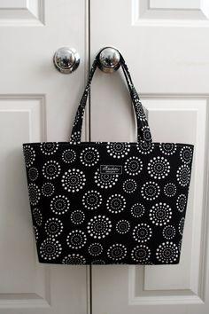 Spiral Dot Boxy Tote Bag by ElisaLou on Etsy, $70.00