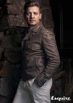 Leather jacket, sweater, trousers, all Bottega Veneta