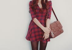 I'd wear this with a white sweater~