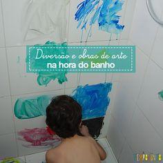Com um pouco de tinta, até o banheiro é lugar de brincar e criar obras de arte incríveis com seus filhos. Bom para todas as idades