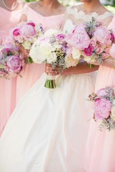 Love these bouquets! | Style Me Pretty