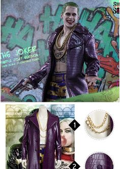 Suicide Squad Joker Cosplay Costume is manufactured from quality material, with accurate design.This Batman Joker Costume supports customization. Joker Cosplay Costume, Anime Costumes, Movie Costumes, Lolita Dress, Costume Design, Squad, Batman, Fashion, Moda