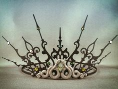 Medusa Snake Tiara Snake Crown Black Tiara Black by angelyques