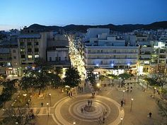 Central square of Agrinio town, Etoloakarnania Prefecture, west Greece Central Square, Places To See, Paris Skyline, Greece, To Go, Street View, Island, City, World