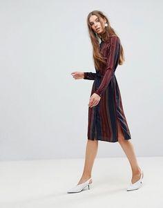 4f7c2f271c4c Vero Moda Tall Stripe Frill Hem Dress