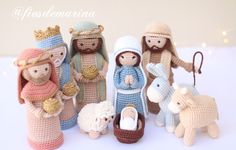 Crochet Christmas Decorations, Crochet Christmas Ornaments, Christmas Crochet Patterns, Christmas Crafts, Crochet Dolls, Crochet Baby, Knit Crochet, Diy Nativity, Creative Crafts