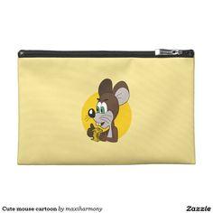 Cute mouse cartoon travel accessories bag