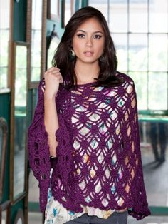 Free Pattern - Luxury shawl with a webbed lace design. A delight to crochet and a dream to wear. #crochet #shawl #lace