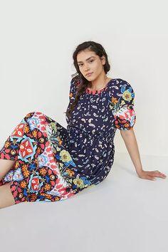 Kaya Maxi Dress | Anthropologie Floral Motif, Bean Bag Chair, Anthropologie, Organic Cotton, Pullover, Model, Sleeves, Shopping, Dresses