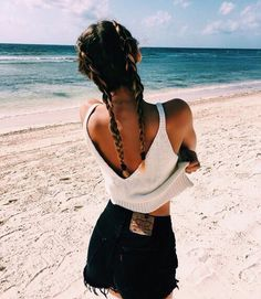 Never underestimate the power of braided pigtails at the beach! Keep them in while getting a tan and take them down for that perfect beachy wave for a night out! sexyhair.com