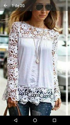 4df73d4cbe7d Women Plus Sizes Chiffon Lace Blouse Shirts Long Sleeve Sexy Autumn Solid  Top Femme Blusas Crochet Women s Blouses - Our Store Ali