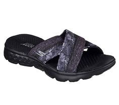 Skechers Performance Womens On The Go 400 Tropical Flip Flop Black 7 M US * Click image for more details.(This is an Amazon affiliate link)