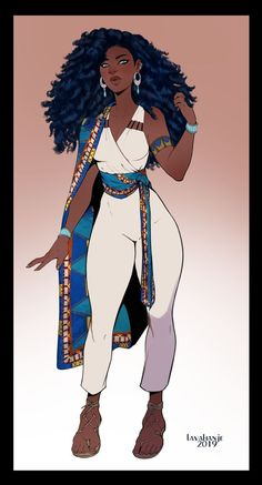 Commission: Alia by Lavahanje on DeviantArt - Character Design Club 2019 Art Black Love, Black Girl Art, Black Is Beautiful, Black Girl Magic, Art Girl, Beautiful Pictures, Black Anime Characters, Girls Characters, Female Characters