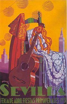 affiche feria seville 1951
