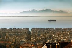 Panoramic view of Thessaloniki, Greece