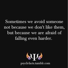 This is exactly what is going on in my life!! I am so afraid that if I see him again I will fall endlessly...