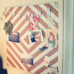 Made this cork board today-- I followed these instructions.    {http://thehappyhomeblog.com/?p=4033}    Simple & looks super pretty!    #DIY #Crafts #Home_Decor