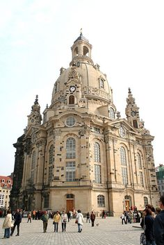 Church restored from the firebombing in Dresden, Germany using original salvageable pieces (very few). Got to tour it just after it opened to the public; one of the most beautiful and memorable churches I've ever seen... and I've seen MANY.