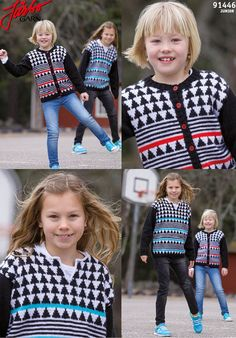 Lovely children's sweater and cardigan.