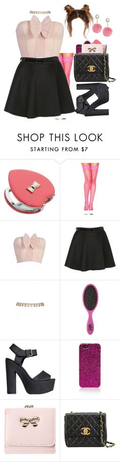 """Untitled #495"" by eduardafrancisca69 ❤ liked on Polyvore featuring Accessorize, Velvette, The Wet Brush, Nly Shoes, Yves Saint Laurent and Chanel"