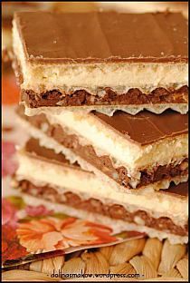 IMPREZOWE PRZEKĄSKI - BARDZO EFEKTOWNE Z PODSTAWOWYCH S… na Stylowi.pl Desserts With Biscuits, No Cook Desserts, Dessert Recipes, Cream Cheese Flan, Polish Recipes, Cupcakes, Muffins, Homemade Cakes, Snack