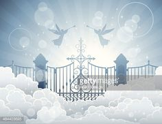 Gates to Heaven Art - Bing images Stairway To Heaven Tattoo, Gates Of Heaven Tattoo, Heaven Tattoos, Heavens Gate Tattoo, Engel Illustration, Salvador, Heaven Images, Heaven Pictures, Portal