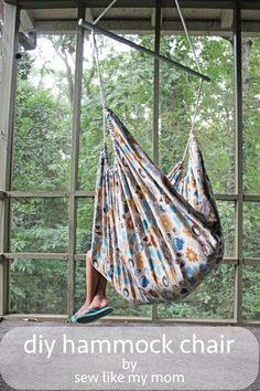 Lazy days are the best, especially when you can relax in a DIY hammock chair like this one from Sew Like My Mom. -Sewtorial