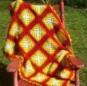 HIgh Tea Granny Square Throw - via @Craftsy