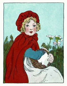"""""""Her grandmother, who was very fond of her, made her a little red cloak and hood."""""""