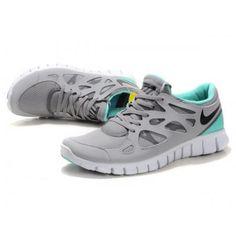 best cheap caad6 4531c Nike Free Run+ 2 Uomini Scarpe Grigio Turchese in Vendita