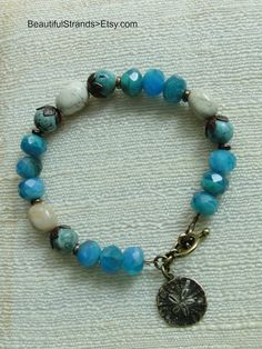 Sea and Sand Bracelet of African Opal Czech by BeautifulStrands, $29.00