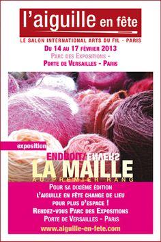 """Le thème de la prochaine édition sera consacré à la maille : """"Endroit/Envers, La Maille au premier rang"""" !   Rendez-vous du 14 au 17 février 2013 au Parc des Expositions de la Porte de Versailles, à Paris."""