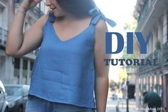 DIY Patrones gratis y video tutorial de BLUSA para mujer