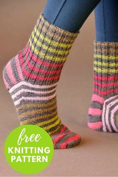 Back to Basics Socks Free Knitting Pattern - 1 skein knitting project! : Back to Basics Socks Free Knitting Pattern – 1 skein knitting project! Knitted Socks Free Pattern, Crochet Socks, Knitting Socks, Knitting Patterns Free, Free Knitting, Knit Crochet, Knit Socks, Debbie Macomber, Patterned Socks
