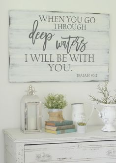 Scripture signs made from reclaimed barn wood! Click for more!
