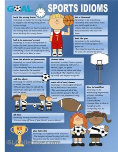 Poster about sport idioms.