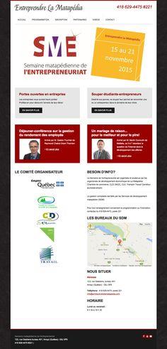 Entreprendre la Matapédia, un site pour l'événement créé avec Mon site Primo