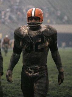 Mud + Jim Brown = Football  #Browns #NFL
