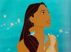 30 day disney princess challenge: day 10: best hair: Pocahontas