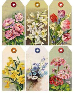 Beautiful Floral printable tags
