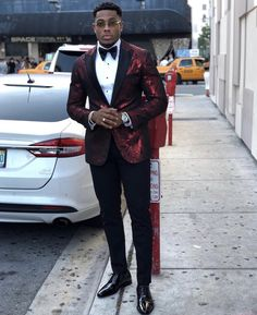 Formal men outfit - 46 Formal Men Outfits to Wear this Fall Boys Prom Suits, Prom Outfits For Guys, Suits For Guys, Prom For Guys, Prom Suits For Black Guys, Black Men In Suits, Men's Outfits, Skinny Prom Suits, Modern Prom Suits