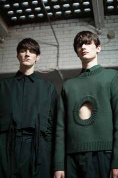 Mihai Bran and Nathan Saignes at Craig Green F/W 2015