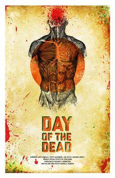 Day of the Dead poster by Jason Kauzlarich Alternative fan-art poster to the iconic George Romero zombie films. Zombie News, Zombie Art, Dead Zombie, Zombie Movies, Scary Movies, Horror Movie Posters, Horror Movies, Horror Pics, Film Posters