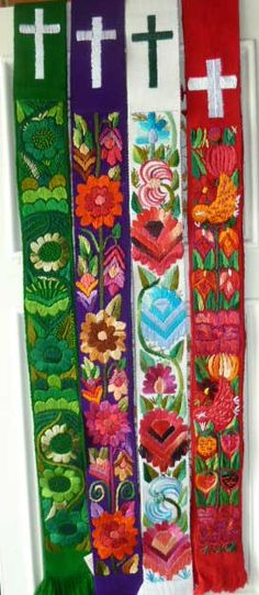 Clerical stoles from Guatemala