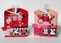 Stampin' Up!  Owl Punch  Geraldine Andrade  Valentine Nugget Holder -love it!!