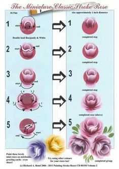 27 Trendy flowers drawing tutorial one stroke Face Painting Tutorials, Acrylic Tutorials, Painting Patterns, Art Tutorials, Painting Flowers Tutorial, One Stroke Painting, Tole Painting, Fabric Painting, Roses Painting Acrylic