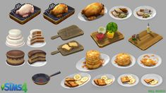 The Sims 4: Food by DeadXIII